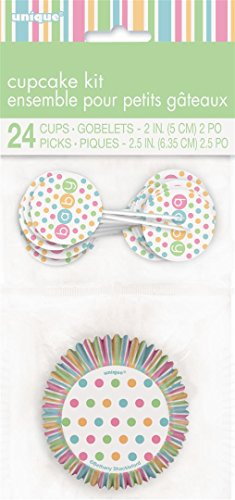 sche Cupcake-fällen und Toppers Kit (24-Stück, Pastell) (Baby-dusche-kits)