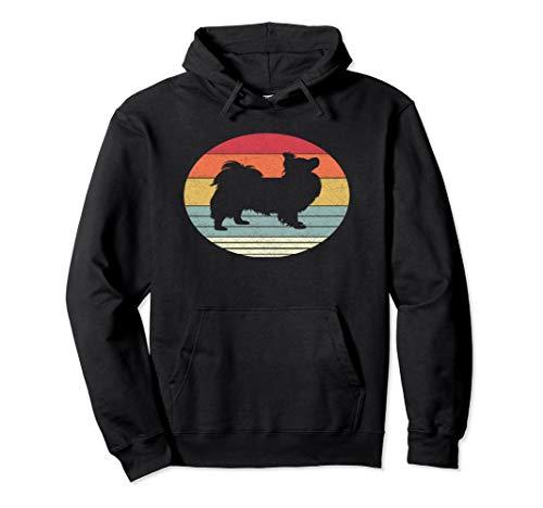 Retro Papillon Dog Shirt Vintage Style Dogs Breed Gift Pullover Hoodie Papillon T-shirt Sweatshirt