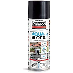 AQUABLOCK Rubson-Spray impermeabilizante-Reparador fugas-300ml-Negro