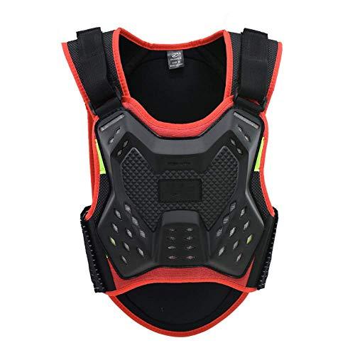 MTK Body Armor Motorcross, Anti-Fall Gear Motorradjacke, Motocross Body Guard Weste, Brust- Und RüCkenwirbelsäUle Protector Vest FüR Radfahren/Skifahren/Reiten/Skateboard
