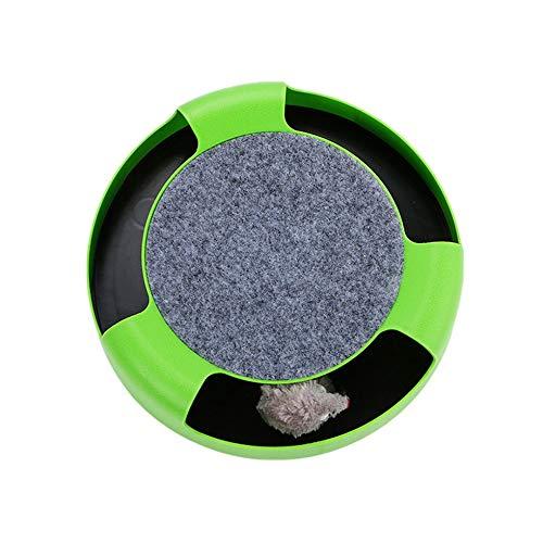 Silverkial Nuevo Juego de Juegos Cat Cat, un Juego de Gatos y Gatos, trae tu Propio ratón, Juguete para Mascotas, Verde
