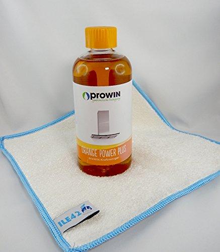proWIN Orangen Power Orangenreiniger mit ILE42 Bambustuch (0,5 L)
