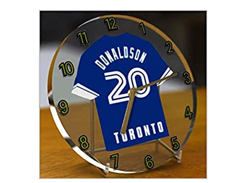 MAJOR LEAGUE BASEBALL - AMERICAN LEAGUE MLB JERSEY DESKTOP CLOCKS - ANY NAME, ANY NUMBER, ANY TEAM - FREE PERSONALISATION !! (Toronto Blue