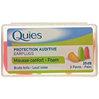 Quies Pair of Foam Earplugs of Earplugs - Pack of 3