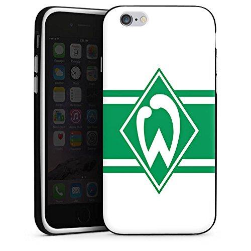 Apple iPhone X Silikon Hülle Case Schutzhülle Werder Bremen Wappen gestreift Fanartikel Silikon Case schwarz / weiß