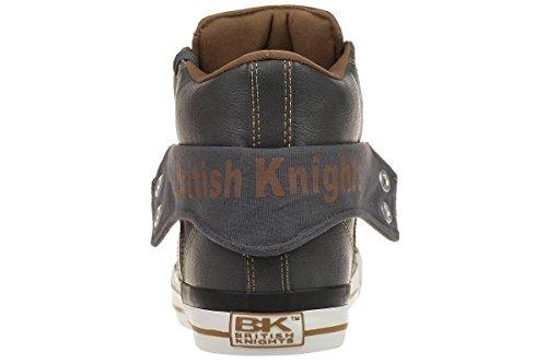 British Knights Roco, Baskets hautes homme Gris foncé/cognac