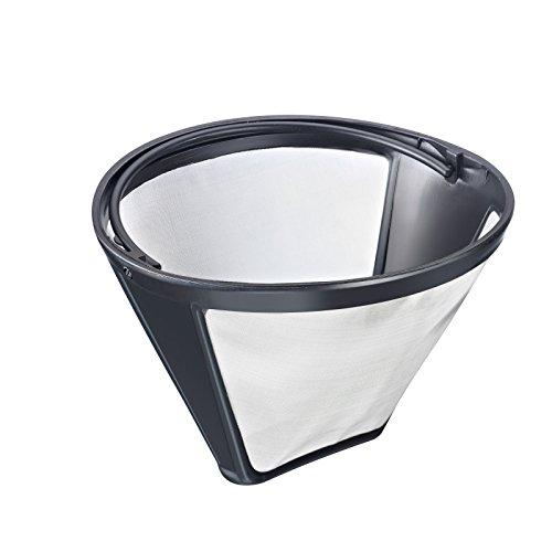 Westmark Dauer-Kaffeefilter, Für 8-12 Tassen Kaffee, Filtergröße 4, mit Edelstahlgewebe,...