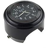Honeyhome reloj reloj de manillar Universal para Moto 22Mm-25Mm reloj negro