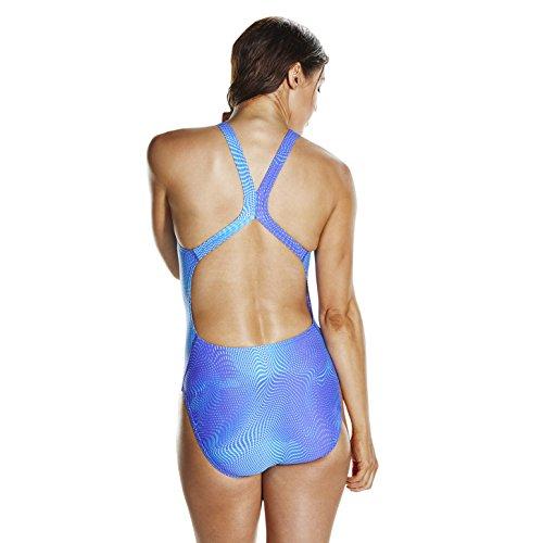 Speedo Damen verflüssigung Powerback Badeanzug, damen, Liquefaction Powerback Violet/Turquoise