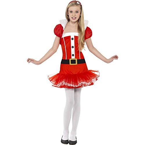 Fancy Miss Für Erwachsene Kostüm Little Dress - Smiffys SMIFFY 'S LITTLE MISS SANTA Tutu Kostüm - Rot