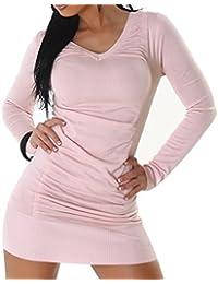 Damen Kleid, elegant mit tiefen V-Auschnitt am Rücken mit Schnürung, passend für die Größen 34 36 38