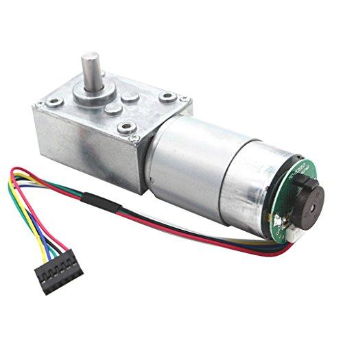 Gazechimp Motor de Engranajes CC con Codificador Ampliamente Utilizado Electrodomésticos Productos Audiovisuales Equipos de Oficina - 12V 470rpm