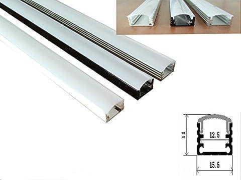 6,99€/m Alu-Profil 22 - Schwarz für LED Streifen Stripe Lichtleiste Aluminiumprofil