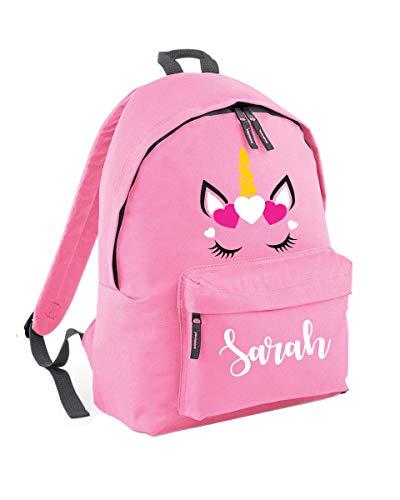 154e44cd3 Personalised Unicorn Backpack School Bag - Unicorn Gifts for Girls - Custom  Name School Bag Girl