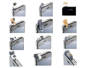 Bonamart Lot de 6écouteurs 3,5mm Anti prise de la poussière chat Bouchon Bouchon Jack pour Smartphones tablette (pour iPhone 33GS 44S 5, iPad 1234Mini, Samsung Note 2N7100, Galaxy S3i9300, i8190, i8262D, S2i9100, i9268, S5830, i9000, Samsung Galaxy S4i9500, I8262