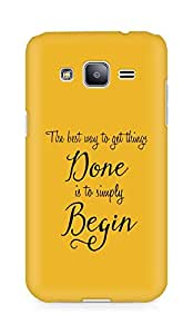 AMEZ the best way to get things done is to begin Back Cover For Samsung Galaxy J2