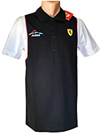 Ferrari Fórmula 1 – Mens Santander Alonso Polo Camiseta ... 8da2aa1bbbd