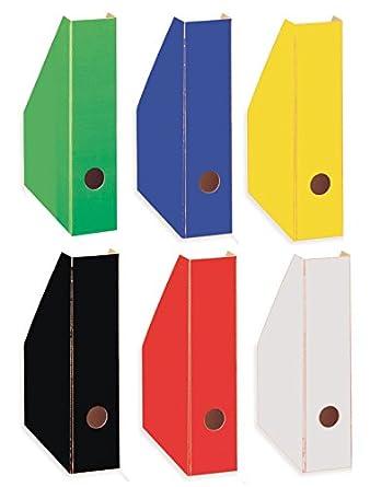 Stehsammler pappe  6 Stehsammler / Stehordner / DIN A4 / 6 verschiedene Farben ...