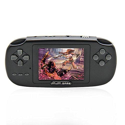 Retro giocatore di gioco portatile, schermo lcd da 2,8 pollici console di videogiochi classica con 168 giochi popolari per bambini