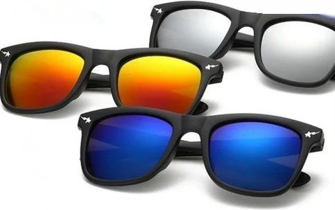 Y&S UVA UVB Oval Shaped Unisex Sunglasses(SMPL-Wayf-Combo-of-3-SM-BM-YM|55|Blue, Silver, Yellow Mercury)