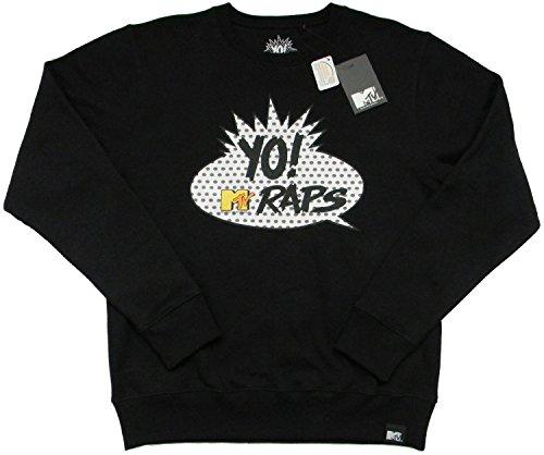 acts-mtv-mens-crew-round-neck-mtv-yo-raps-logo-black-grosse-m-l-l
