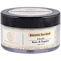 KHADI NATURAL Rose and Papaya Face Scrub, 50g