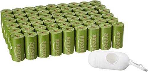 AmazonBasics - Verstärkte Hundekot-Beutel mit EPI-Zusätzen und Spender und Leinen-Clip, brasilianische Mango, 810 Stück -