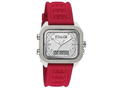 D&G Dolce&Gabbana DW0300 - Orologio da polso Uomo, caucciú, colore: Rosso