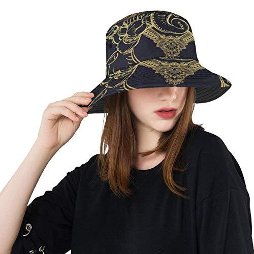 Sombrero de niña Cabeza de elefante hindú al aire libre Dios Lord Ganesha Orig Verano Unisex Pesca Sol Top Bucket Sombreros para adolescentes Mujeres Gorra de pescador Deporte al aire libre Sombrero d