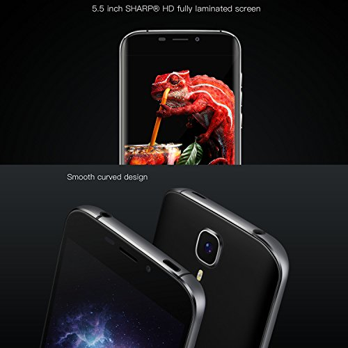 SIM Free Mobile Phones, DOOGEE X9 Pro Dual SIM Unlocked Smartphones – Android 6.0 4G Mobile Phone with 5.5 Inch HD IPS Display – 2GB RAM+16GB ROM – 5.0MP+8.0MP Camera – 3000mAh Fingerprint Smartphone – Black