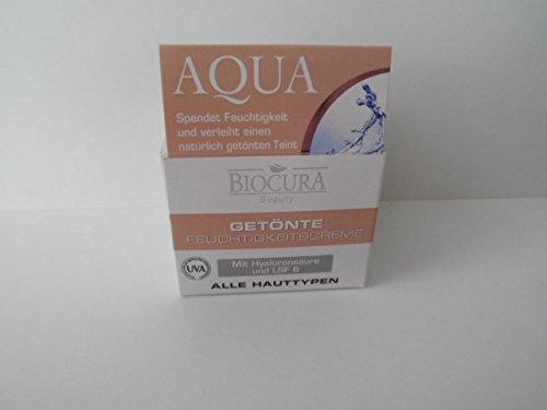 BIOCURA Beauty AQUA getönte Feuchtigkeitscreme mit Hyaluronsäure und LSF 6 50 ml (Eine Feuchtigkeitscreme Getönte)