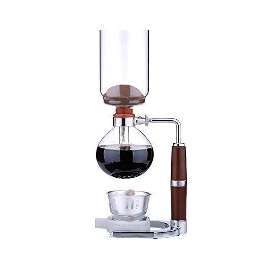 Machine à café à la maison / Siphon en verre / Machine à café manuelle / Machine à café 3 personnes (3 couleurs en option) (16.3 * 37cm) ( couleur : A )