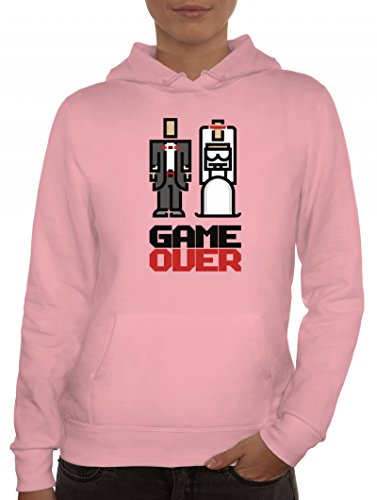 Lady Kapuzenpullover Married Couple Pixel Game Over Rosa