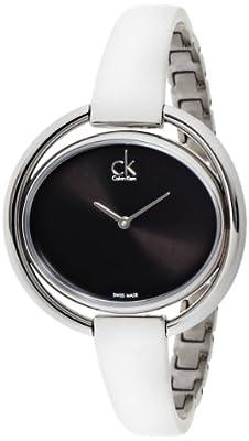 Calvin Klein–Reloj de pulsera analógico para mujer cuarzo acero inoxidable K4F2N111 de Calvin Klein