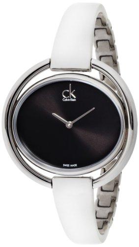 Calvin Klein Damen-Armbanduhr Analog Quarz Edelstahl K4F2N111