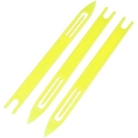 3 Unidades Plástico Amarillo Red De Pesca Reparación Aguja Traslado Bobina 8#