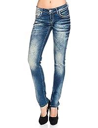 Cipo & Baxx Damen Jeans Nähte Jeanshose