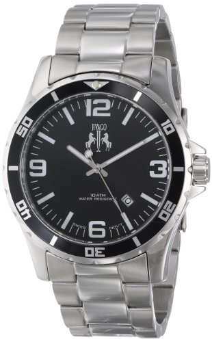 Jivago Men's Swiss Quartz Stainless Steel Casual Watch, Color:Silver-Toned (Model: JV6117)