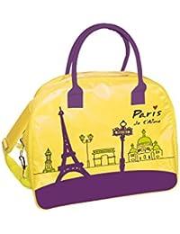 Incidence Paris Sac de Voyage Vinyle M I'm So Chic, 42 cm, 30 L, Noir