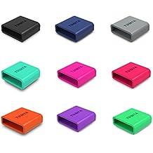 TUSITA 9-PACK anillo sujetador de silicona para Fitbit Force / Charge / Charge HR / Polar A360 A300 / Forerunner 35 Loop Guardián de bloqueo de cierre de la pulsera de la correa