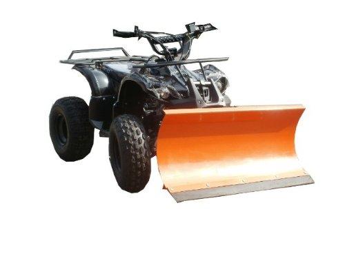 """7,5 PS - Quad \""""T-Rex Hummer RG\"""" ATV 125 cm3 / Mit 1m breitem Schneeschieber / E-Starter + Automatik-Getriebe / Doppel-Sportauspuff / Bis 65 km/h / Fernbedienung + Alarm / Schneeschild Schneeräumer"""