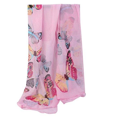 OverDose Mode Frauen Chiffon Schmetterling Schal Weiche Wrap Schal Halstuch Tücher Schlauchschal Damen Schal - Taschen Mit Wollschal
