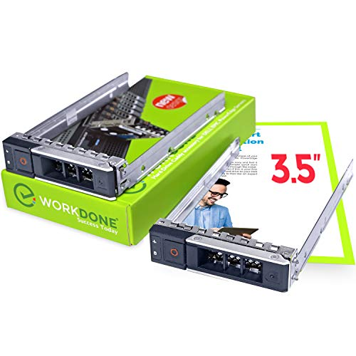 WORKDONE 2er Pack 3,5-Zoll Hard Drive Caddy Tray - Festplattenrahmen für Dell PowerEdge Server - 14. Generation R440 R540 R640 R740 R740xd R7415 R7425 - Hot Swap SAS SATA Halterung Gehäuseträger