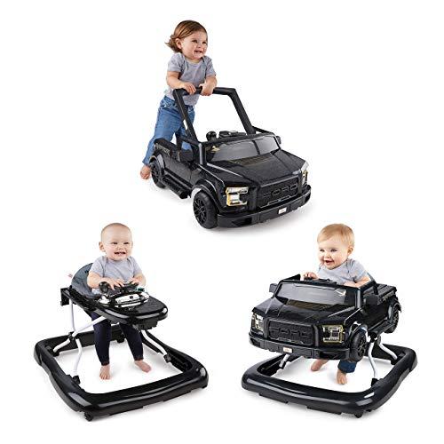 *Bright Starts, 3 In 1 Lauflernhilfe, FORD F-150 RAPTOR, Schwarz, in 3 Varianten verwendbar, 2 Kinder können Gleichzeitig Spielen, wächst mit, Ab 6 Monaten*