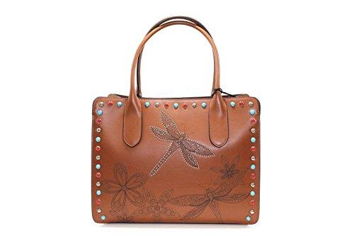 Tosca Blu , Sac pour femme à porter à l'épaule Marron marron 35x15x27cm