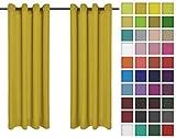 Rollmayer 2er Pack Vorhänge Schal mit Ösen Kollektion