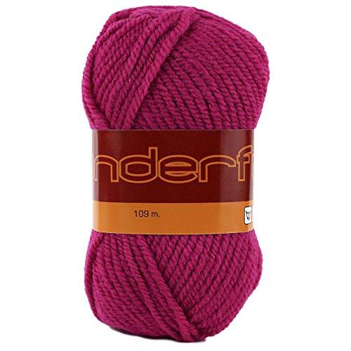 Wonderful 4Pack (Garnknäuel) Kammgarn Gewicht Garn Wolle 50% Acryl 50% jeder Knäuel 3Oz (85g) 119Meter (109M) hot pink -