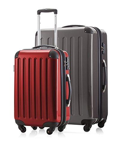 2er Kofferset Handgepäck + Reisekoffer in verschiedenen Farben von HAUPTSTADTKOFFER Ⓡ (Titan 119L, Rot 42 L)