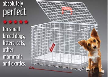 MDC Large Small Animal Carrier Large Cat & Small Dog Carrier Cage, One Size by MDC Exports