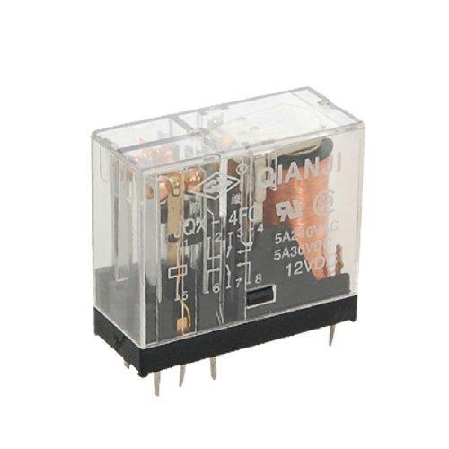 Preisvergleich Produktbild JQX-14FC G2R-2 DPDT 8 Pin Vermogen Relais 12V DC spoel 5A 240V AC 30V DC